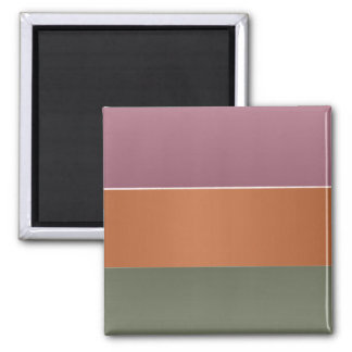 Drei Metallendfarbstreifen - addieren Sie TextImg Quadratischer Magnet