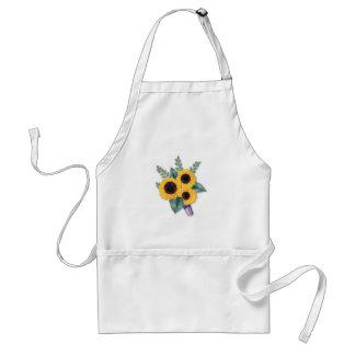 Drei netter Sonnenblume-Blumenstrauß Schürze