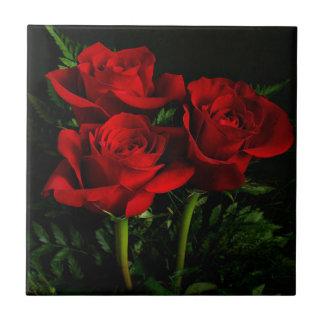 Drei Rosen Keramikfliese