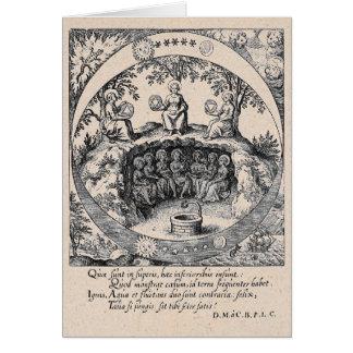 Drei Schwestern Alchimie Grußkarte