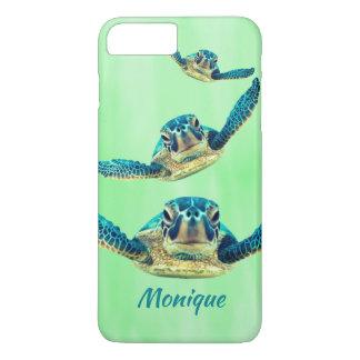 Drei schwimmende Meeresschildkröten iPhone 8 Plus/7 Plus Hülle