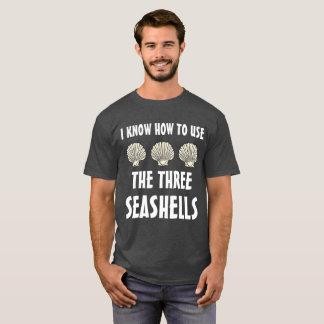 Drei Seashells Meme T-Shirt