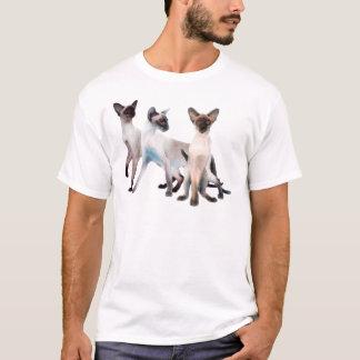 Drei siamesische Katzen T-Shirt