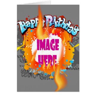Drei Warnungs-Geburtstag Karte
