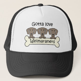 Drei Weimaraners Truckerkappe