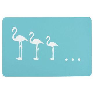 Drei weiße Flamingo-Vögel und Punkt-Boden-Matte Bodenmatte