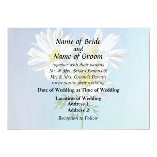 Drei weiße Gänseblümchen, die Produkte Wedding Karte