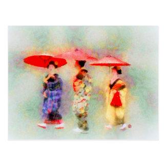 Drei wenig Maiko (neue Version) Postkarte