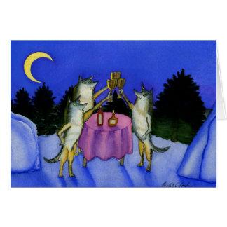 Drei Wölfe im Schnee Karte