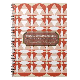 Dreieck-Kreis-Blüten-Creme-Weiß-Notizbuch Spiral Notizblock