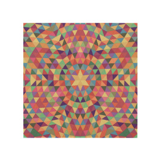 Dreieck-Mandala 1 Holzwanddeko
