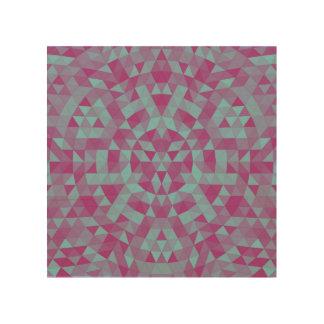 Dreieck-Mandala 2 Holzdruck