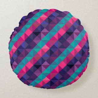 Dreieck-Polygon-geometrisches gestreiftes Muster Rundes Kissen