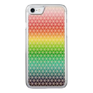 Dreieck-Regenbogen-geometrischer Carved iPhone 7 Hülle