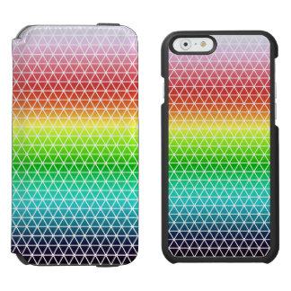 Dreieck-Regenbogen-geometrischer Incipio Watson™ iPhone 6 Geldbörsen Hülle