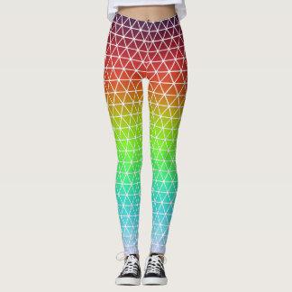 Dreieck-Regenbogen-geometrischer Leggings