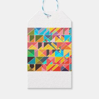 Dreieckiger abstrakter Entwurf Geschenkanhänger