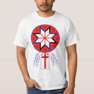 DreierMi'Kmaq Forum-Symbol und Flagge T-Shirt