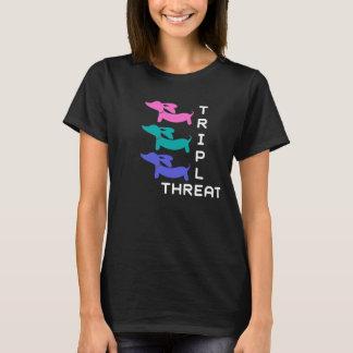 Dreifache Drohungs-Dackel (3 Dackeln) T-Shirt