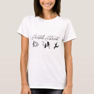 Dreifache Drohungs-T-Shirt Damen T-Shirt