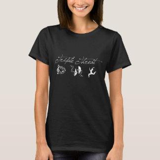 Dreifache Drohungs-T-Shirt Dunkelheit gefärbt T-Shirt