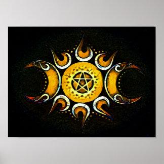 Dreifache Göttin gekrönt - Dunkelheit Poster