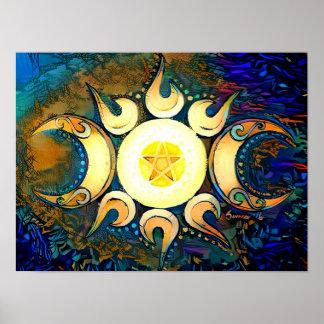 Dreifache Göttin gekrönt Poster