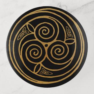 Dreifache keltische Knoten-Strudel-Mandala Dekoschale