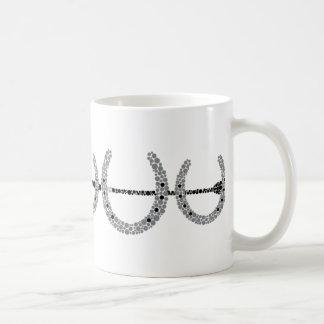 Dreifache Pferdeschuh-Kaffee-Tasse Tasse