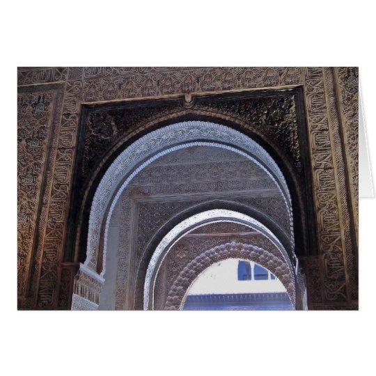 Dreifache Tür Alhambras Karte