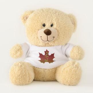 Dreifacher Clef-bedeckenRotahorn-Blatt Teddybär