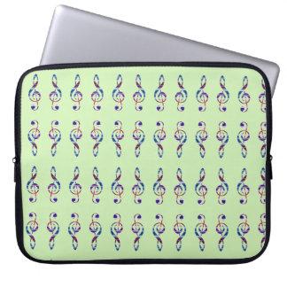Dreifacher Clef Laptopschutzhülle