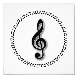Dreifacher Clef-Musik-Anmerkungs-Entwurf Photo