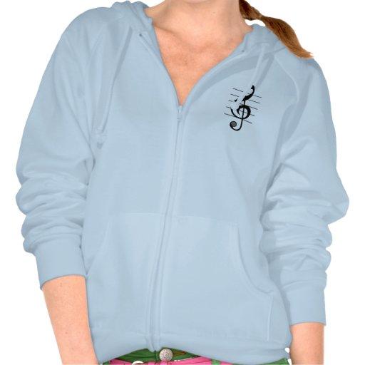 Dreifacher Clef-musikalische AnmerkungHoodie Kapuzensweatshirts