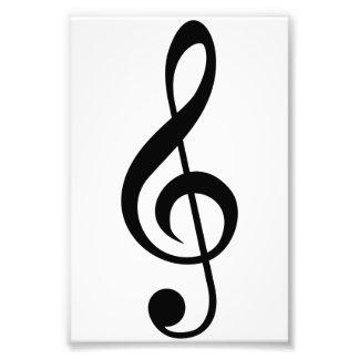Dreifacher Clefc$g-clef-Musical-Symbol Fotografische Drucke