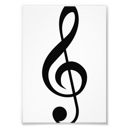 Dreifacher Clefc$g-clef-Musical-Symbol Kunst Photo