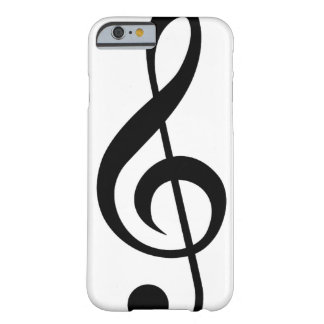 Dreifacher Clefc$g-clef-Musical-Symbol Barely There iPhone 6 Hülle
