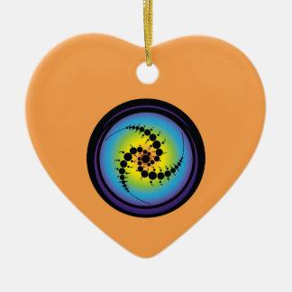 Dreifacher gewundener Ernte-Kreis Keramik Herz-Ornament