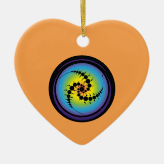 Dreifacher gewundener Ernte-Kreis Keramik Ornament