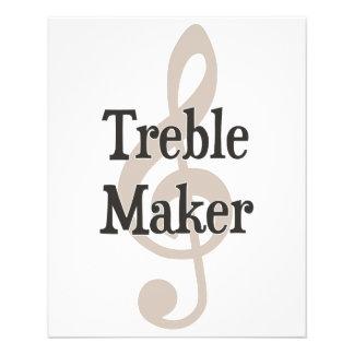 Dreifacher Herstellerclef-Musical-Unruhestifter Bedruckte Flyer