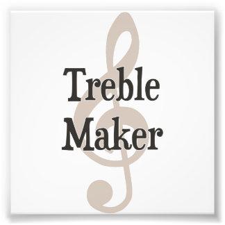 Dreifacher Herstellerclef-Musical-Unruhestifter Fotodrucke