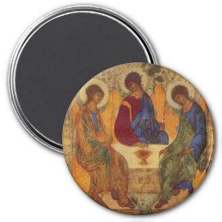 Dreiheits-Engel bei Mamre Runder Magnet 7,6 Cm