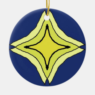 Dreiheits-Stern Keramik Ornament