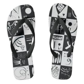 Dreißig durch Wassily Kandinsky Flip Flops