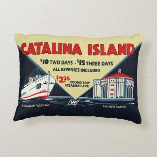 Dreißigerjahre Catalina-Insel-fördernde Kunst Dekokissen
