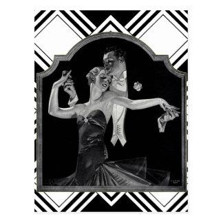 Dreißigerjahre, die Deko tanzen Postkarte