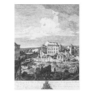 Dresden, die Ruinen des Pirnaische Vorstadt Postkarte