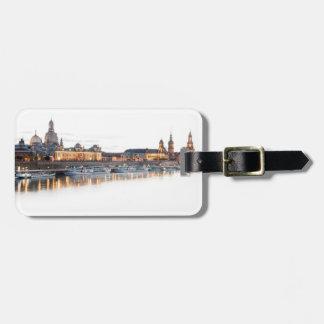 Dresden nachts kofferanhänger