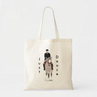 Dressage Grulla Pferd und Reiter-gerade Tanz Tragetasche