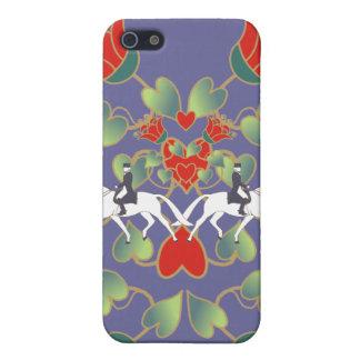 Dressage-Herzen und Blumen iPhone 5 Schutzhüllen